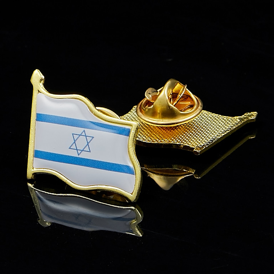 Israel Flag Pin Brooch Waving National Flag Style Flag Badge Brooch W/ Butterfly Clip Clothes Accessories 201 countries flag national flag symbol fridge magnets combine order accept wholesale business souvenirs