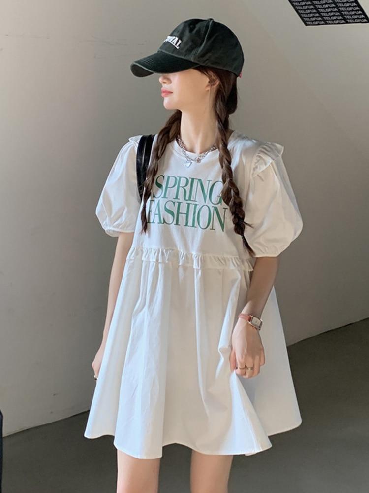 Baby Dress Women's Summer Dress Bubble Sleeve Dress 2021 New Small Love Skirt Age Princess Dress
