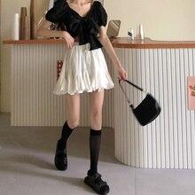 INS Super Popular White Skirt Women's Summer New Japanese Chic All-Match High Waist Students Slimmin