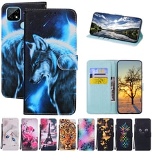 For Realme C21 Flip Case Leather Wallet Case For Oppo Realme C21 c 21 Fundas Stand Leather Book Cove