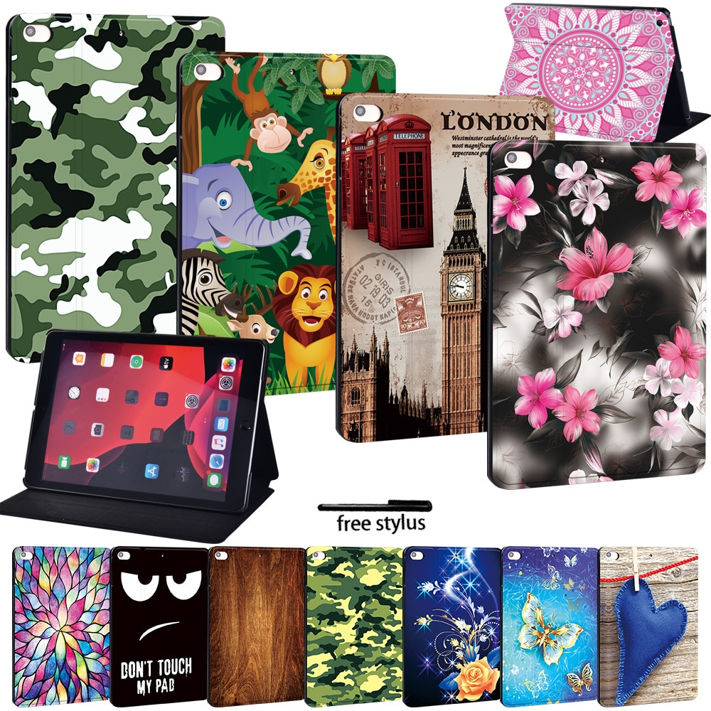 Leather Tablet Case For Apple iPad Mini 12345/iPad 234/iPad 2017 2018 2019/Air3 10.5/Pro 11Smart Tablet Stand Folio Cover Case mandala pu leather stand cover case for apple ipad ipad mini ipad air ipad pro tablet lightweight durable protective case