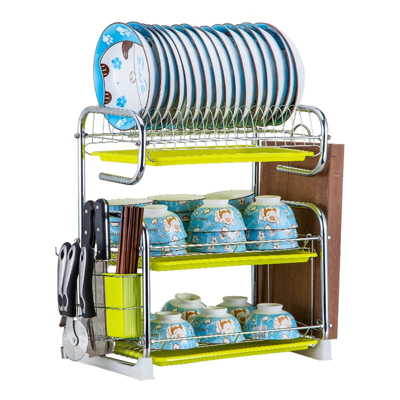 5%Sink Holder Kitchen Cutlery Rack Drain Storage Rack S-shaped 2/3 Layer Cutlery Stand Dish Rack Kitchen Cutlery Rack Plate Rack