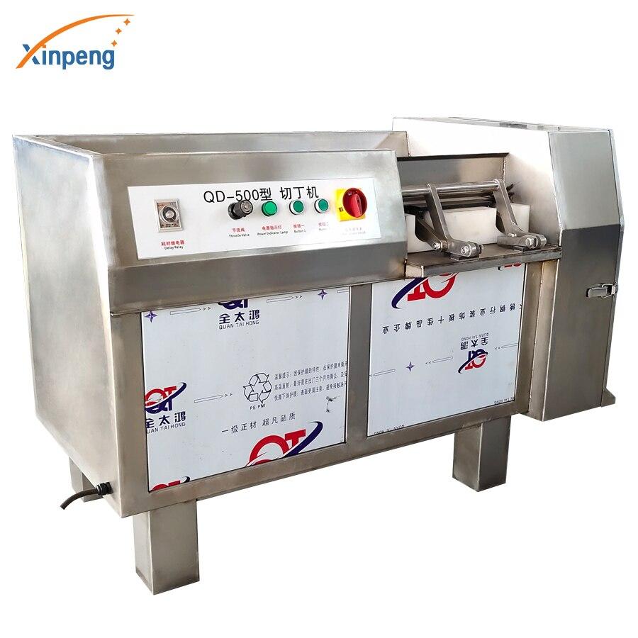 Máquina de corte a dados de rebanadas de verduras y carne cortadora de pechugas de pollo