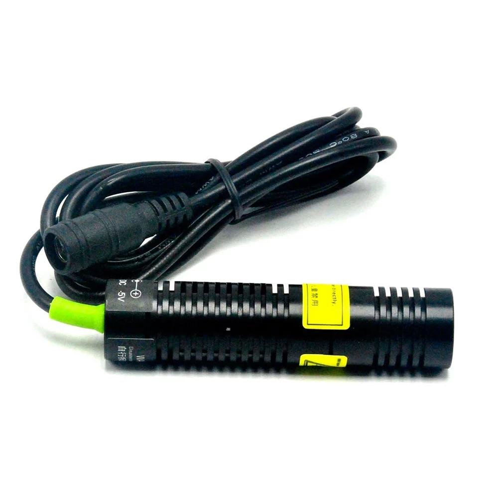 532 нм 50 мВт 18x75 мм зеленый точка лазер диод модуль локатор фокус с 5 В адаптер +% 26 K9 объектив