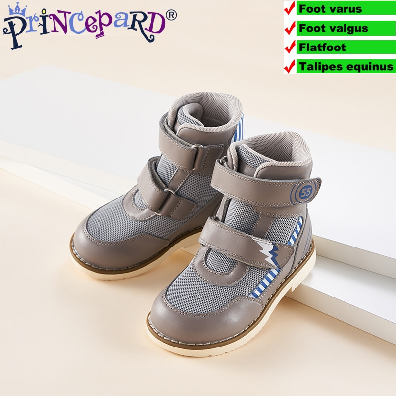 Princepard Spring Autumn Children Orthopedic Shoes for Kids Genuine Leather Flat Feet Supportive Shoes European Size 19-37 enlarge