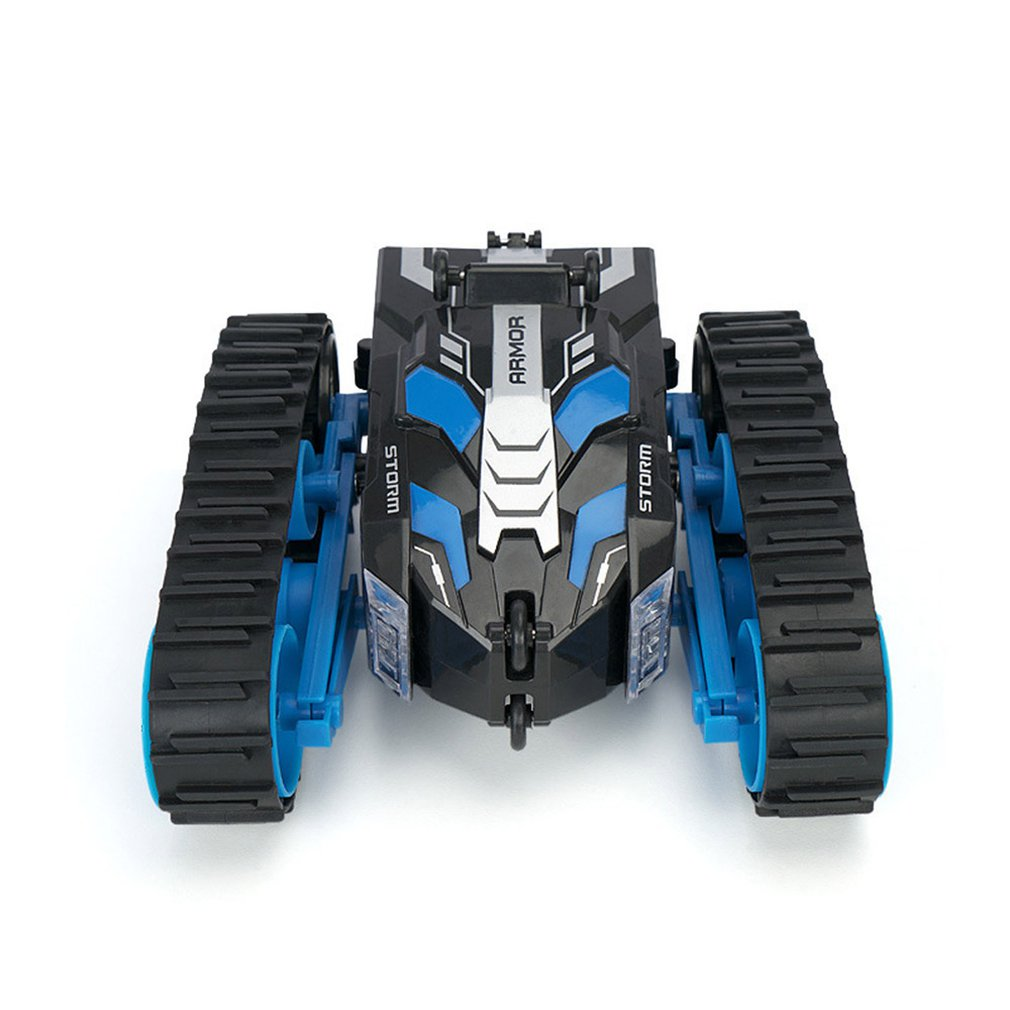 Rc 2in1 Double-sided High-speed Stunt Car Toy 4wd Wireless Remote Control Tank Track Vehicle Robot Model Toy Gift For Boys enlarge
