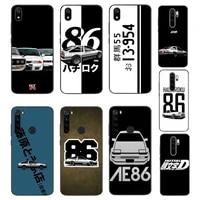 yndfcnb hot japan initial d anime bling cute phone case for xiaomi redmi note8t 7 9 pro 5a redmi4x 5a 6a 6 7 8 5plus