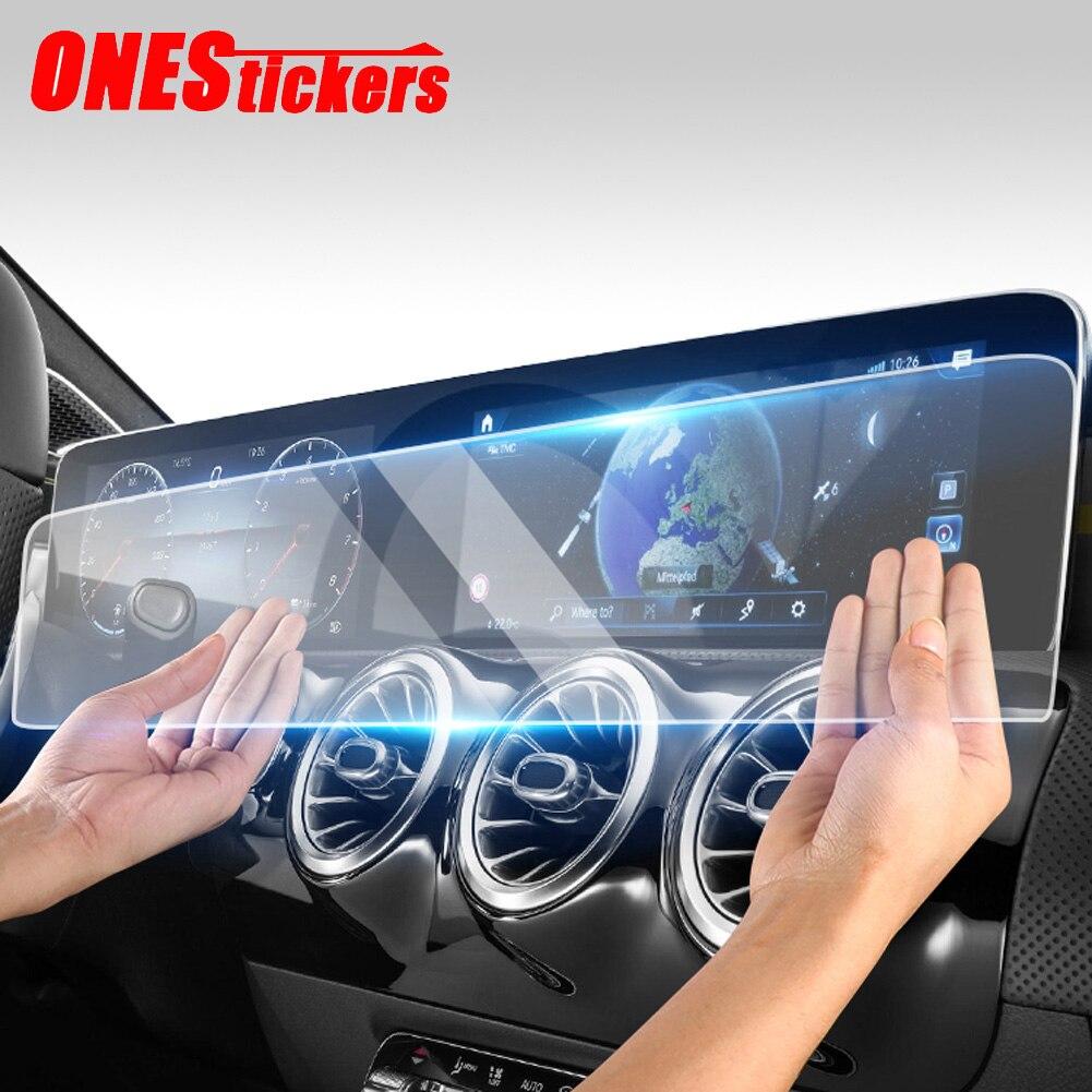 Mercedes Benz Clase B C118 W247 CLA180/200/220/250/2020 + 10,25 pulgadas pantalla de navegación de coche película protectora de vidrio templado