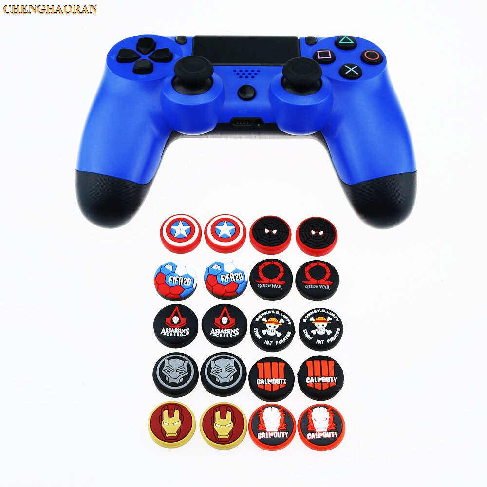 10 colores vengadores guardia pulgar Stick agarre gorra pulgar Joystick funda para PS4 PRO Xbox 360 interruptor controlador Pro