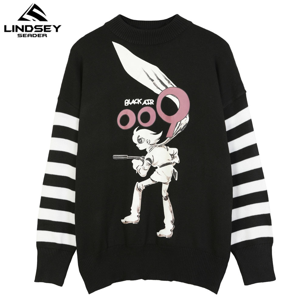 Lindsey seader camisola de malha masculina anime 2020 cashmere lã lã lã lã oversize coreano malhas jumper roupas masculinas