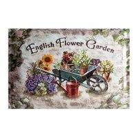 Panneau de maison en fer doux anglais  signes de jardin de fleurs et de cour  8x12 pouces  peinture en etain