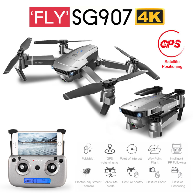 Новый SG901 SG907 gps RC Квадрокоптер с Wi-Fi FPV 1080P 4K HD Двойная камера оптический поток Дрон Следуйте за мной мини Дрон VS SG106 E502S