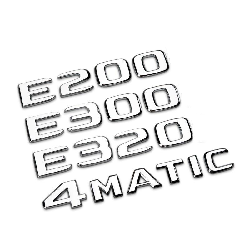 Car rear tail Emblem Number letters badge sticker For Mercedes Benz GLA/E/C Class C180 C200 C260 E43 E260 E300 E320 E400