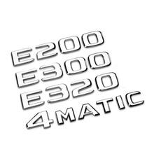 Samochód tylny ogon godło numer litery naklejana etykieta dla Mercedes Benz GLA/E/C klasa C180 C200 C260 E43 E260 E300 E320 E400