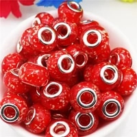 10pcslot large hole glass luminous beads charms fit pandora bracelet women chain cord diy pendant necklace for jewelry making