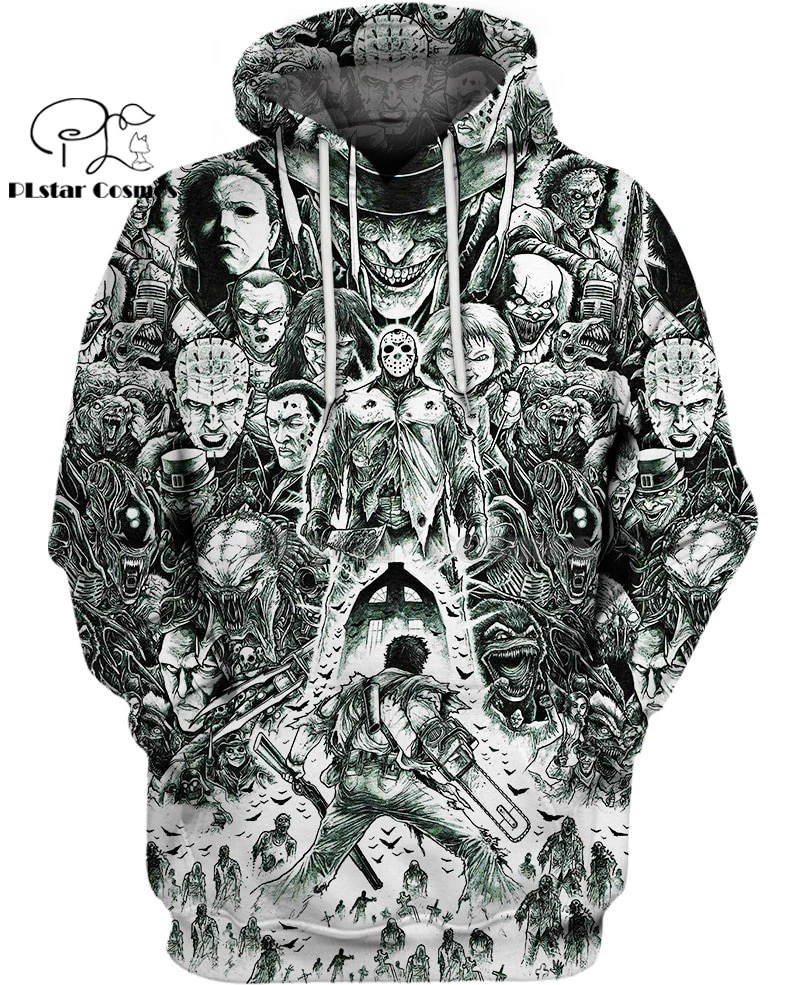 PLstar Cosmos horror Ash vs Evil Dead Jason Voorhees Halloween 3d printed hoodies Sweatshirt women men funny jacket streetwear printio jason voorhees