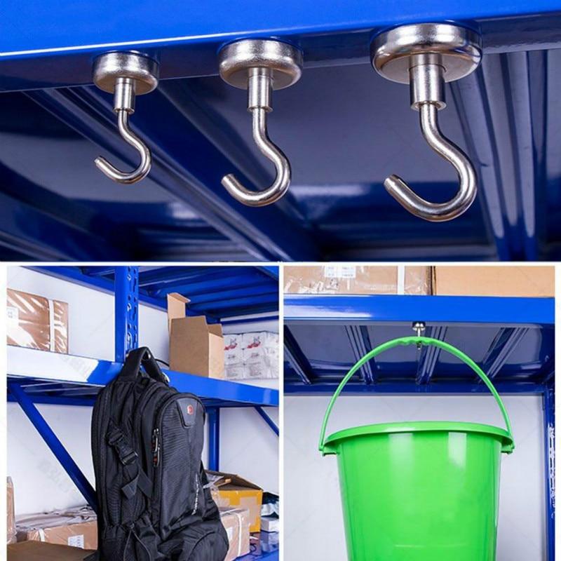 Cangkuk magnet tugas berat, cangkuk kuat dengan magnet neodymium - Organisasi dan penyimpanan di dalam rumah - Foto 5