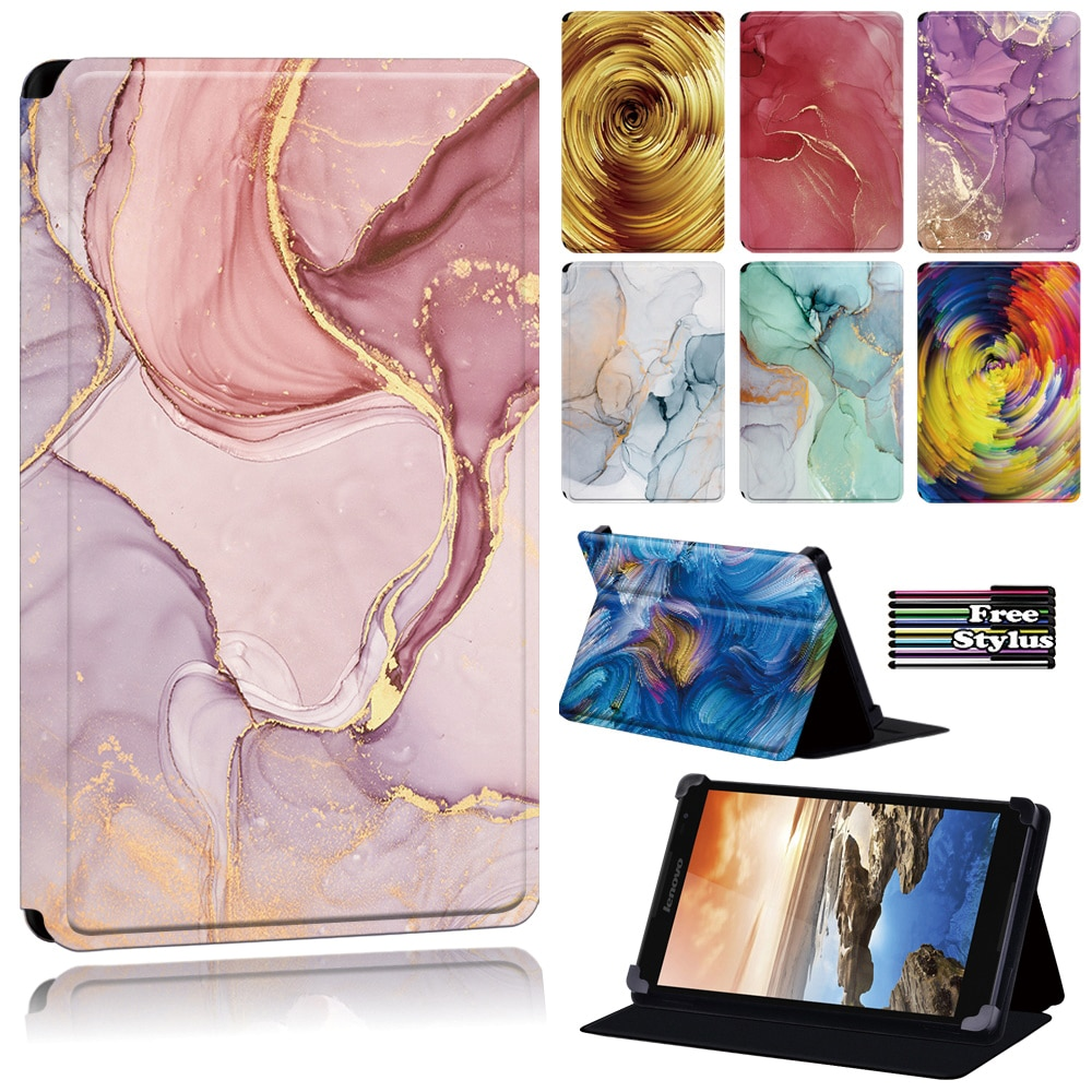 Tablet Case for Lenovo Tab 8/Tab(A8-50 A5500/S8 - 50)/A7-(30 A3300/50 A3500)/Yoga Tab 4 Plus/Thinkpad Tablet 2-Watercolor Series