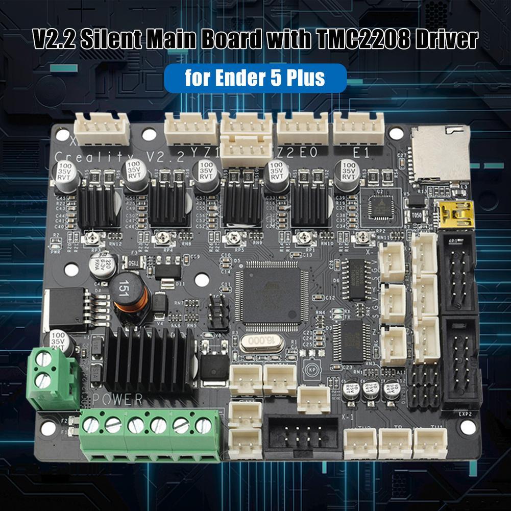 V2.2 الصامت الرئيسي مجلس Ender-5 زائد 3D طابعة اللوحة Creality V2.2 المتكاملة TMC2208 لوحة للقيادة ل CR-10 S4 S5 10 S