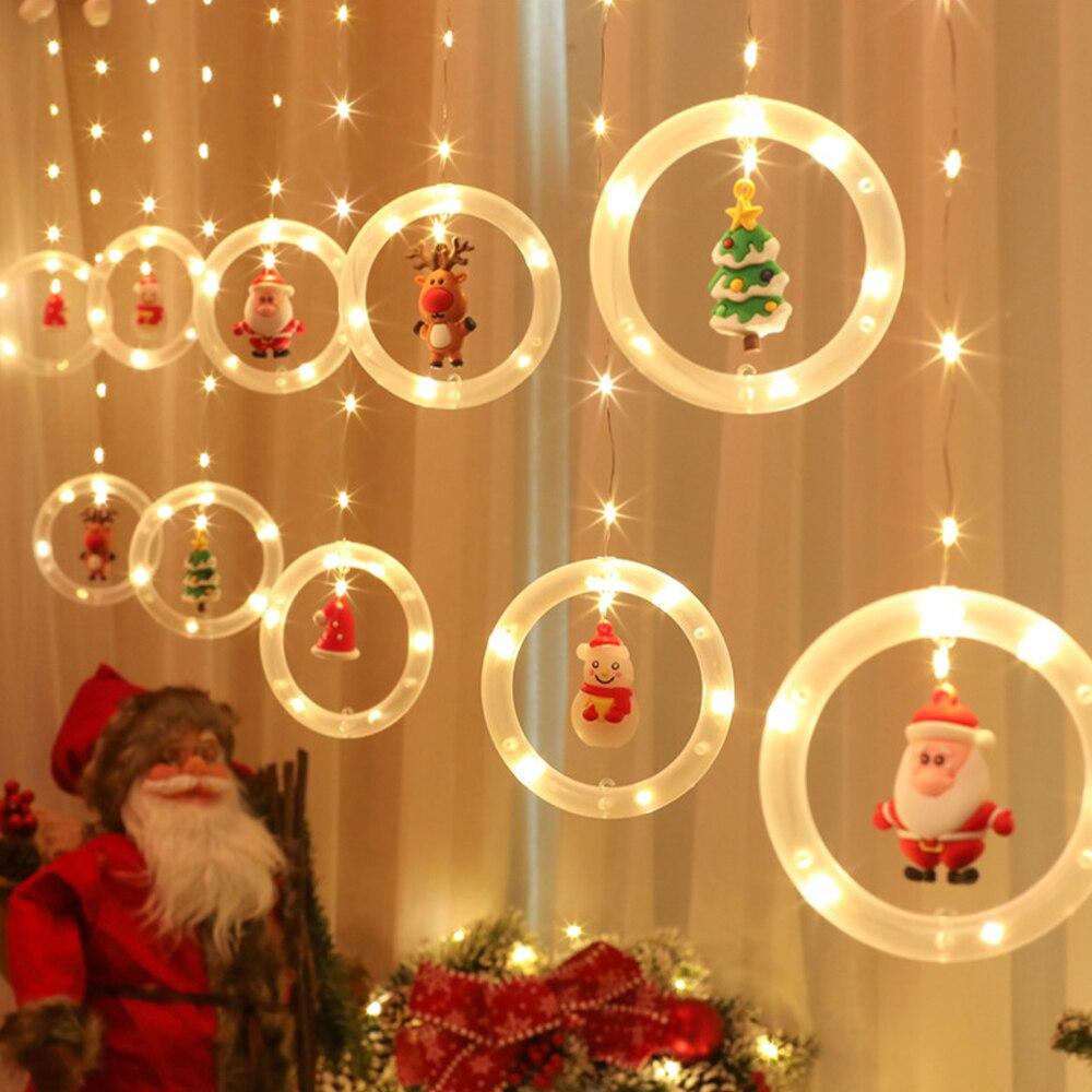Подвесная гирлянда, Рождественское украшение, люминесцентное теплое белое Рождественское украшение, Декоративная гирлянда, светильник дл... недорого
