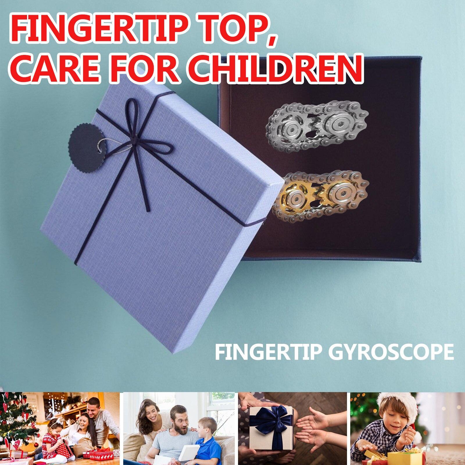 Stress Relief Toy Puzzle Antistress Toy Fingertip gyro sprocket Sprocket Flywheel Fingertip Toy Fingertip Top For Children enlarge