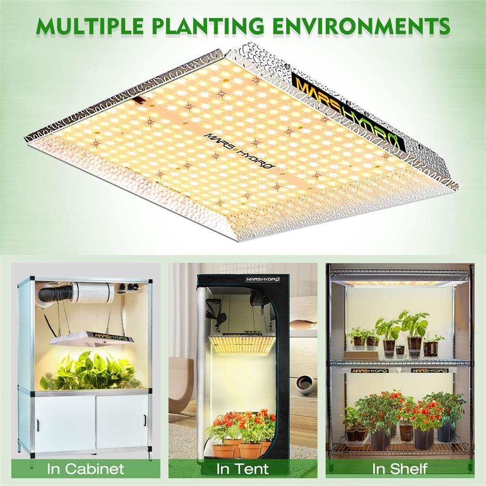 MarsHydro TS 1000W Full spectrum indoor plants led grow light and 100x100x180cm Grow tent Garden hydroponics plant growing light enlarge