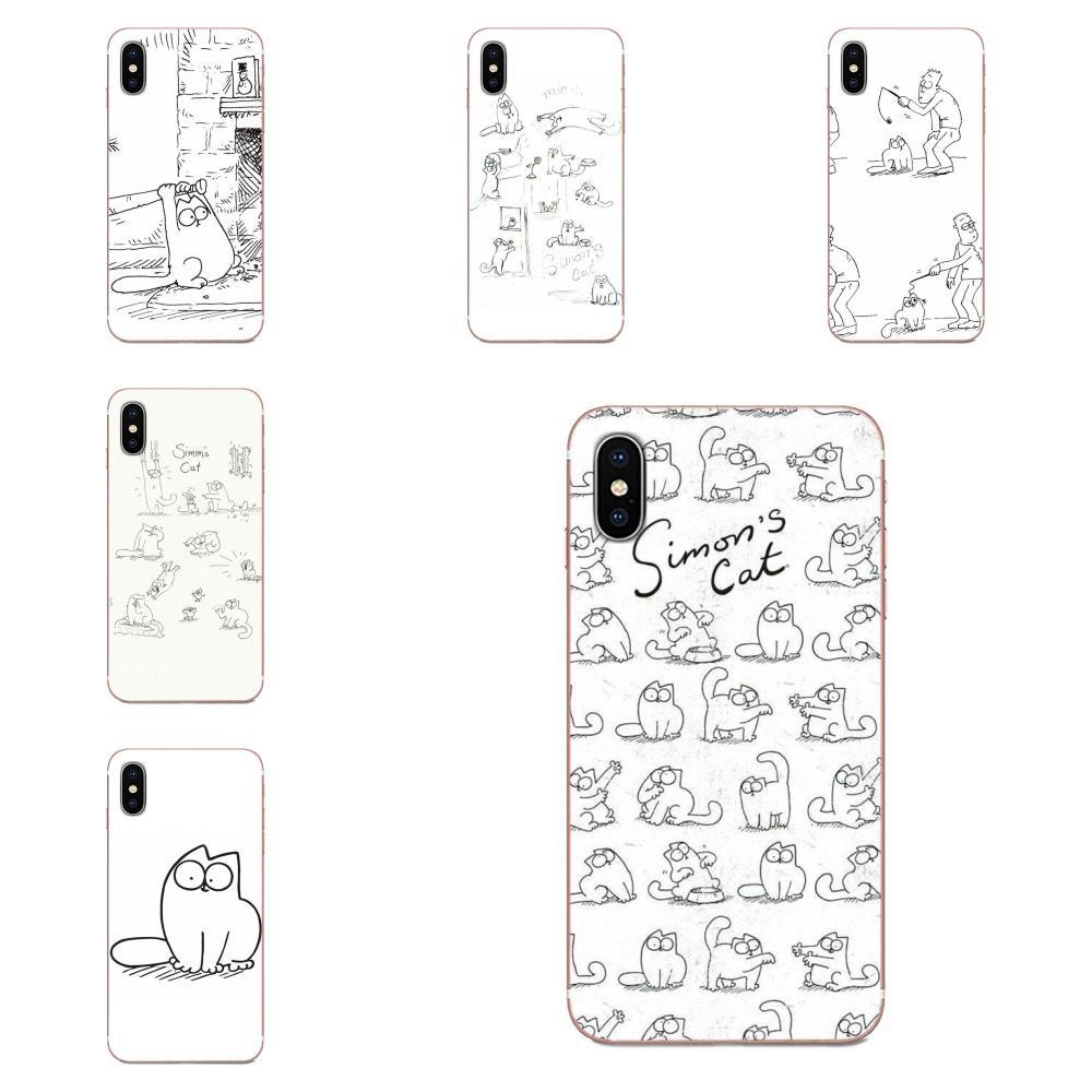 Imons gato lindo anime para Huawei P7 P8 P9 P10 P20 P30 Lite Mini Plus Pro Y9 primer P Smart Z 2018 2019 suave Protector casos