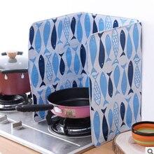 Cuisine impression cuisinière à gaz cuisinière gamme protecteur déflecteur barrage-panneau isolation huile Splash Scald garde conseil