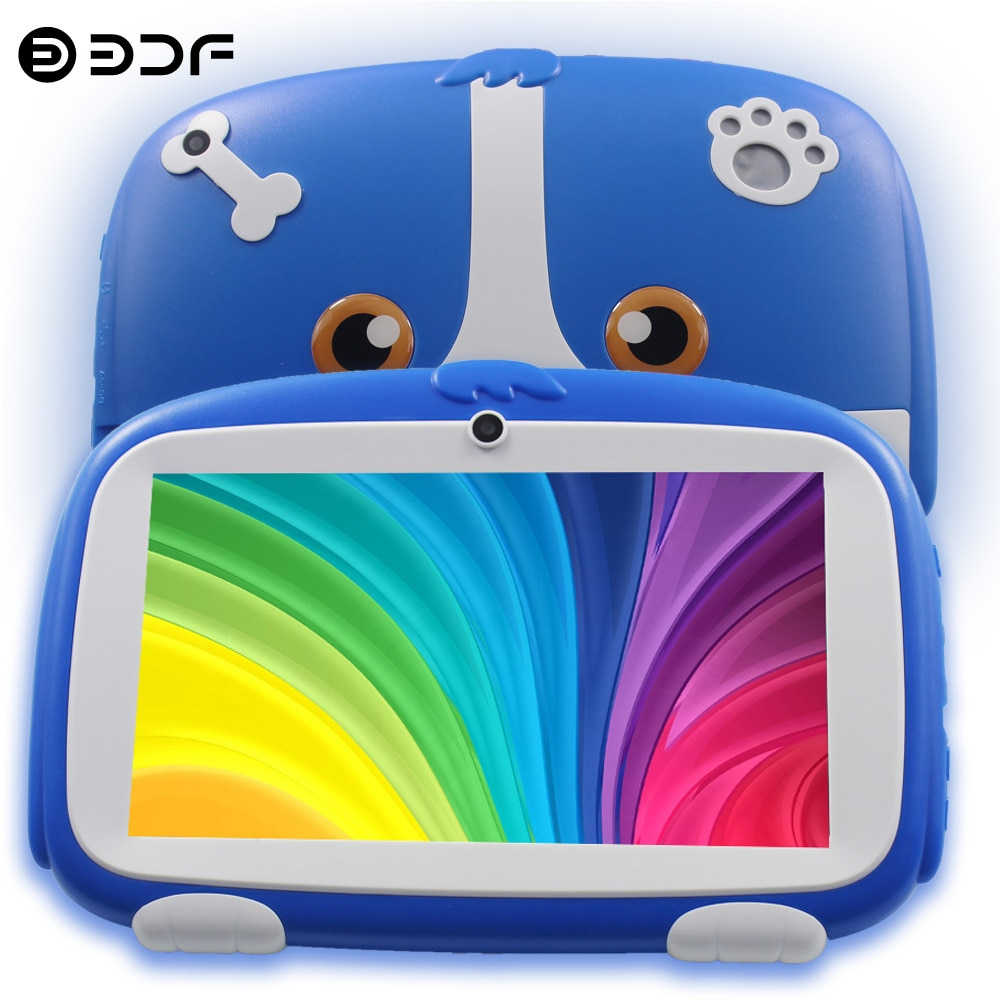 New Design 7 Inch Kids Tablets Google Android 8.0 Quad core Dual Camera 16GB WiFi Children's favorites gifts tablet pc