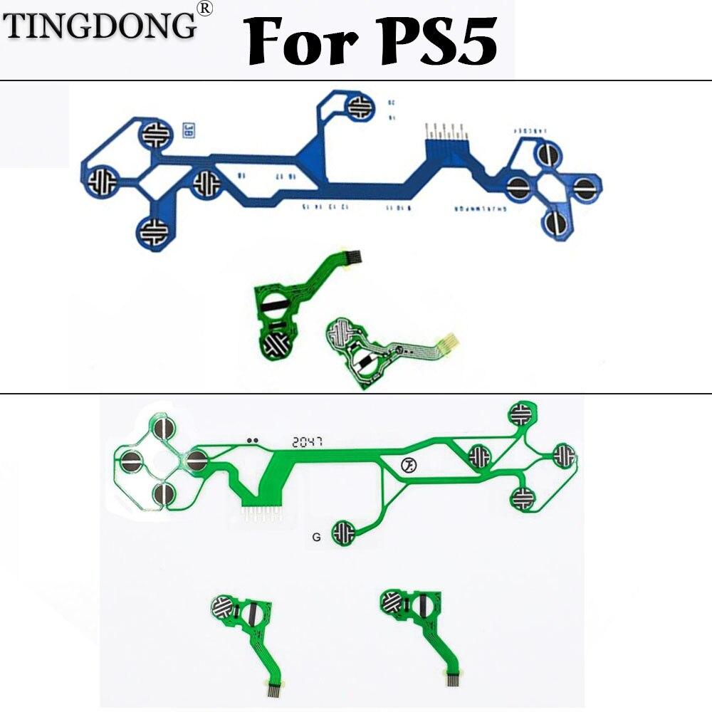 2 комплекта Оригинальный Новый гибкий кабель с ПВХ изоляцией для PS5 проводящая пленка для контроллера замена пленки для PS5 пленочный контрол...