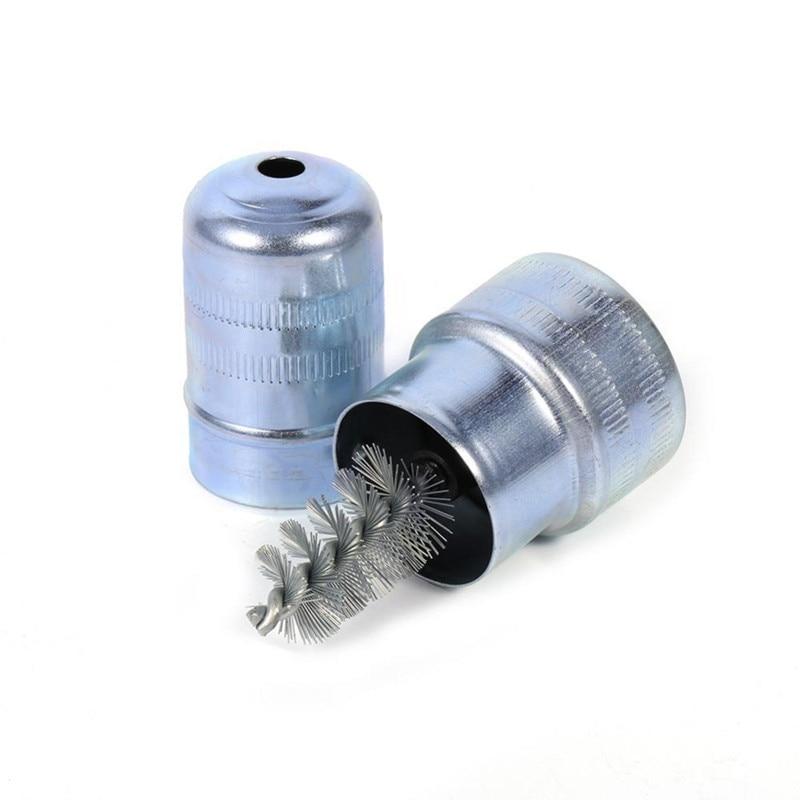 Bateria de carro post terminal limpador sujeira e corrosão escova mão ferramenta limpa pilha cabeça eletrodo óxido camada escova limpeza