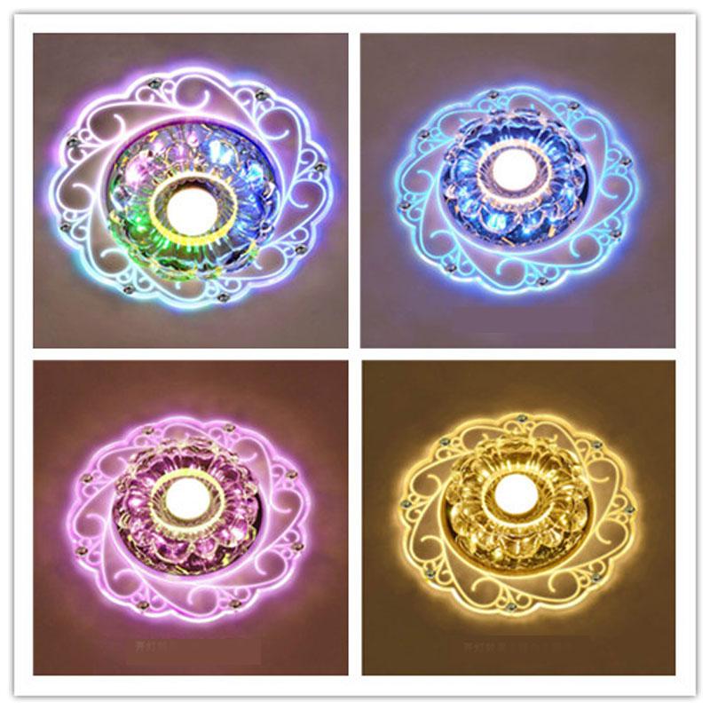 Lámpara de techo led de cristal claro para sala de estar, lámparas...