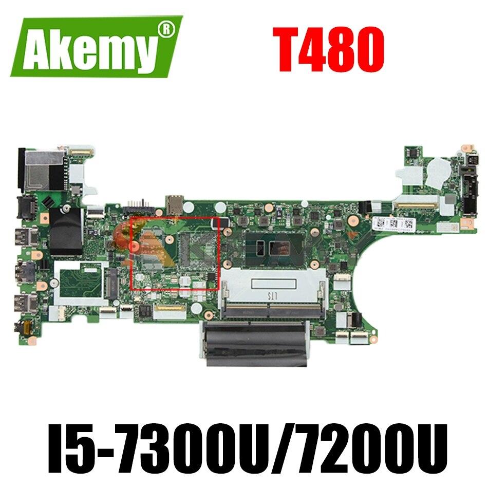 ET480 NM-B501 لينوفو ثينك باد T480 اللوحة المحمول مع وحدة المعالجة المركزية i5 7300U 7200U اختبار 100% العمل FRU 01YR326 01YT261 01YR322