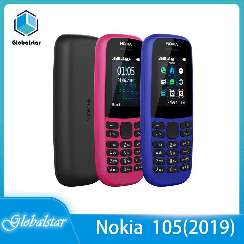 Перейти на Алиэкспресс и купить Nokia 105(2019) Восстановленный Оригинальный 105(2019) телефон с двумя Sim-картами 2G GSM 800 мАч разблокированный дешевый мобильный телефон