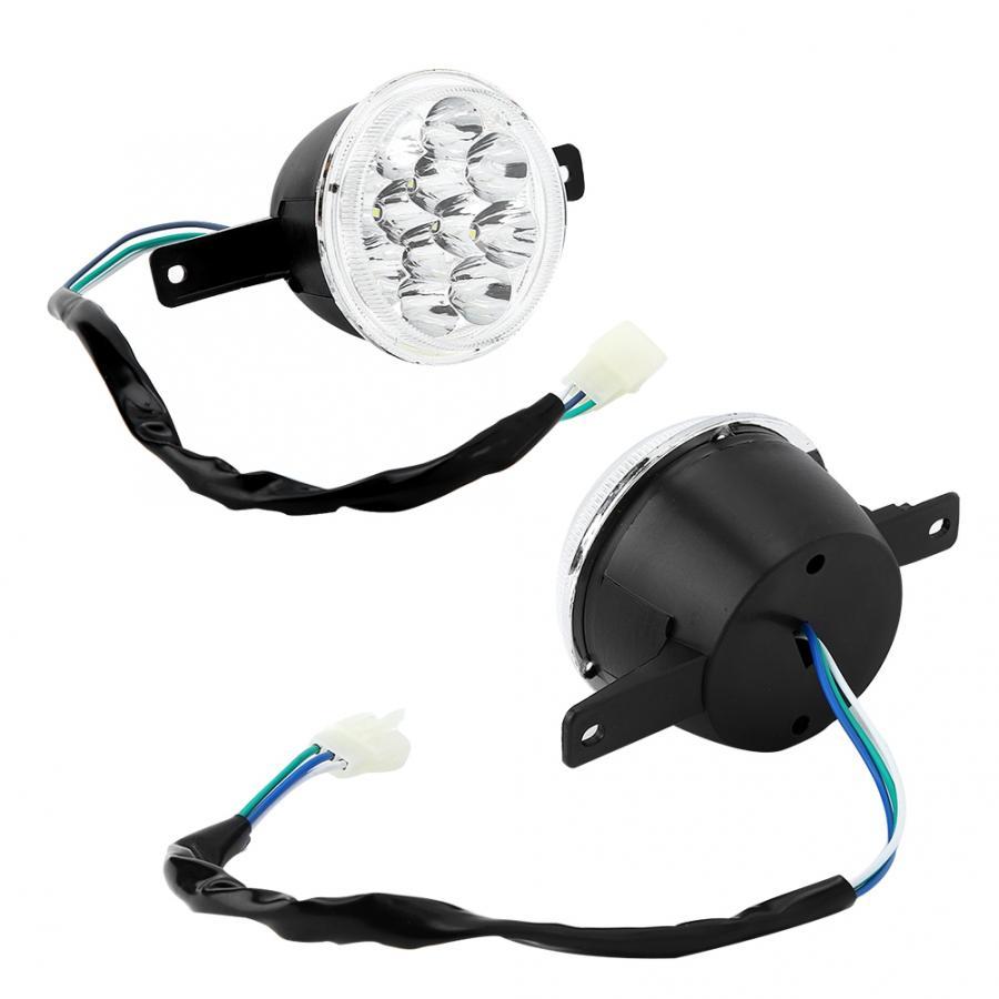 2 uds 12V LED faro izquierdo y derecho lámpara de toro granja Quad bici de la suciedad ATV 150cc 250cc faro led para motocicleta
