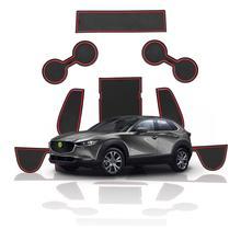 RUIYA voiture anti-dérapant caoutchouc porte rainure tapis pour Mazda CX-30 2019 2020 Auto intérieur étanche à la poussière fente Pad accessoires 9 pièces