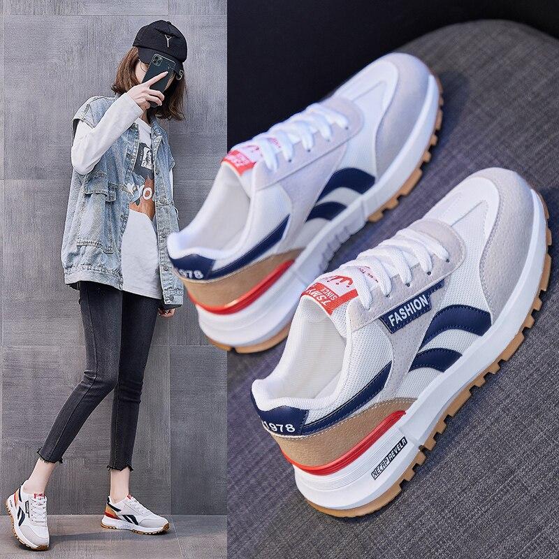 Zapatillas de deporte informales para mujer, zapatos deportivos transpirables para correr, de...
