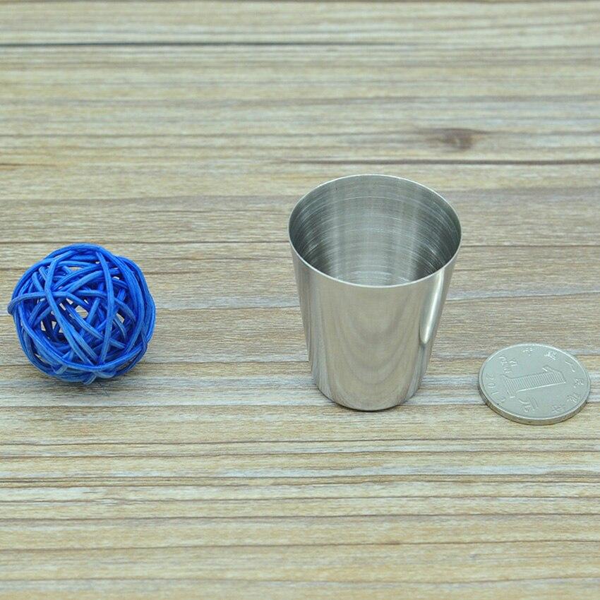 Купить с кэшбэком 1 PCS Stainless Steel Wine Glasses 1 oz Portable Outdoor Wine Tumblers Whisky Tumbler Cup Drinkware for: Wine, Coffee, Water