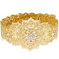 sunspicems gold silver color moroccan caftan belt for women dress waist belt wedding jewelry arab robe bijoux bridal gift 2021
