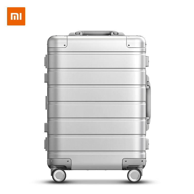 Xiaomi Metal Carry-on Luggage 20inch Mi Travel Business Trip Fashion Casual Suitcase Silver