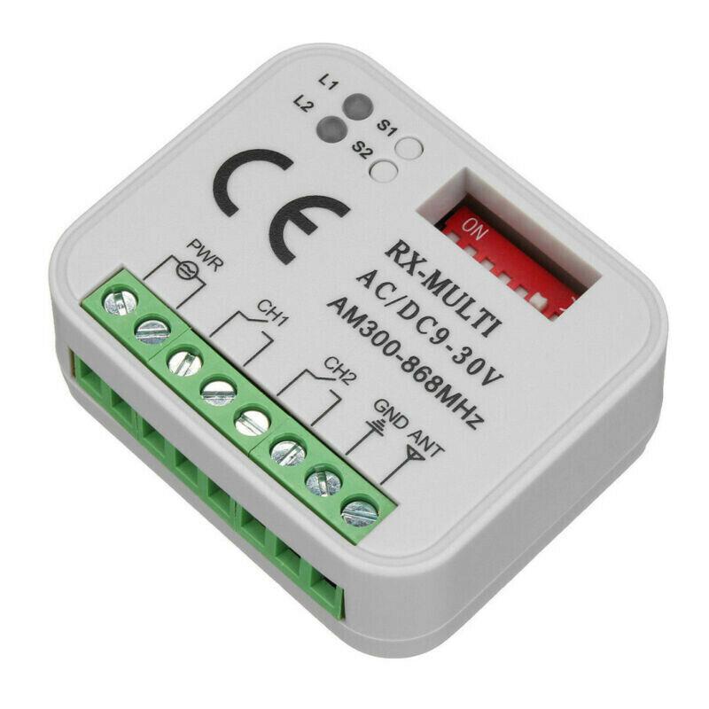 Приемник дистанционного управления двери гаража GIBIDI 433 МГц код прокатки GIBIDI AU1600 AU1610 AU1680 AU1810 DOMINO команда гаража 433.92mh