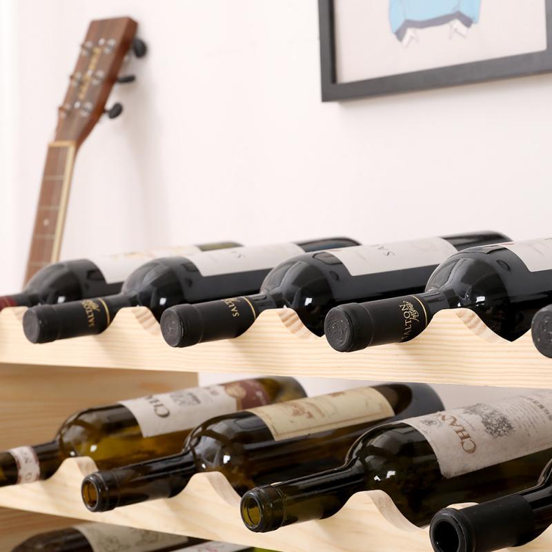 حامل الزجاجة الخشبية DIY بها بنفسك الإبداعية للطي حامل النبيذ الحلي متعددة المعبأة في زجاجات المنزل وظيفة هندسية ديكور حامل حامل HWC