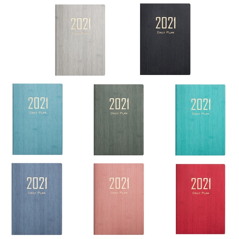 New Fashion Agenda 2021 Notebook A5 Leather Soft Cover School Planner Efficiency Journal For Students School Office Supplies