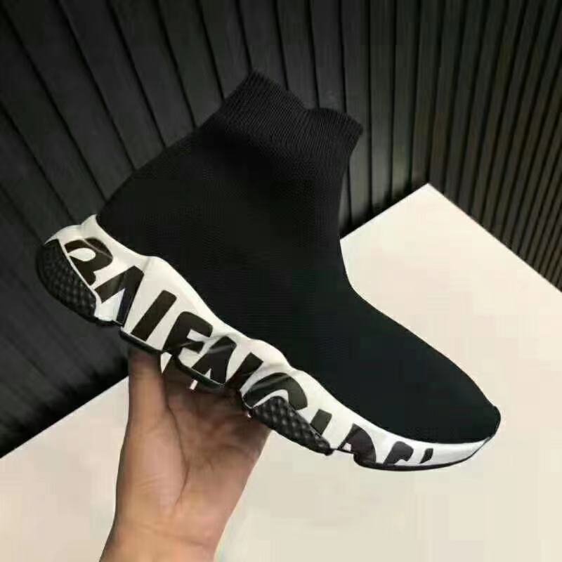 2021 New Original Balenciaga- Speed Trainer Sneakers Men Women Black Red Casual Shoes Fashion mens w