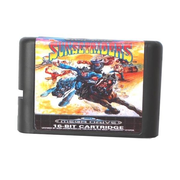 Cartas de juego de 16 bits de Sunset Riders para Sega Mega Drive y Sega Genesis
