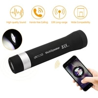 portable led wireless speaker mini bluetooth music torch speaker outdoor cycling card loudspeaker support mp3 mp4 tf card