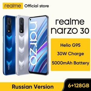 [World Premiere]realme narzo 30 Russian Version Helio G95 Smartphone 90Hz 6.5