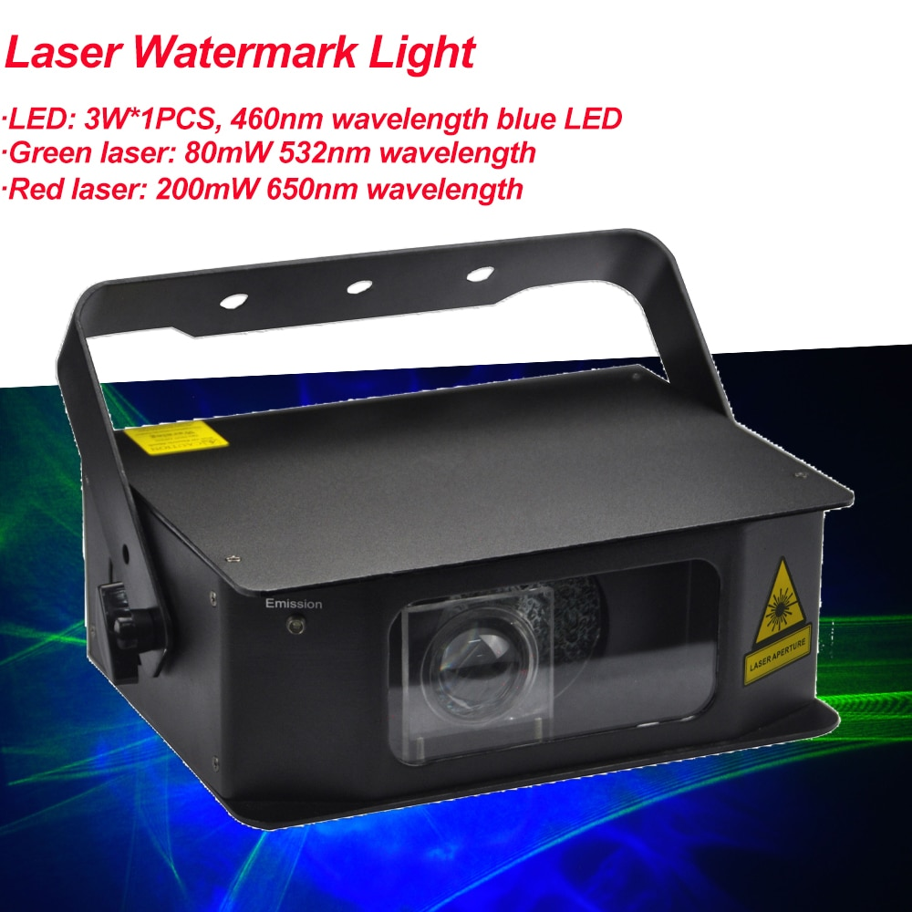 New Laser Water Pattern 2IN1 Light Nightclub DMX512 Bar Party Dance Singer Dance Props Music KTV box Christmas DJ LED Light