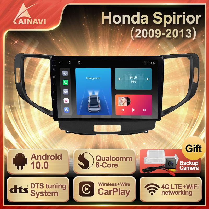 Car Radio Android 10.0 QLED Screen For Honda Spirior Accord 8 2009-2013 Auto Stereo Multimedia Player Navigation Carplay NO 2din