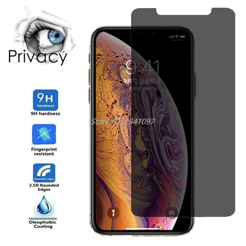 Tempered Glass Case For iPhone X 12 5 6 6S 7 8 PLUS XR XS Max Privacy Screen Protect For iPhone 11 P